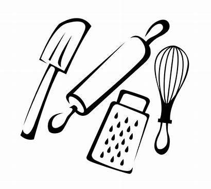 Baking Utensils Cooking Cartoon Spatula Rubber Kitchen
