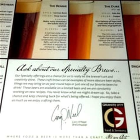 granite city food brewery 144 reviews american