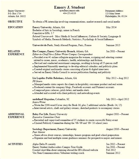 Political Science Major Resume Objective by Political Science Internship Resume Http Topresume