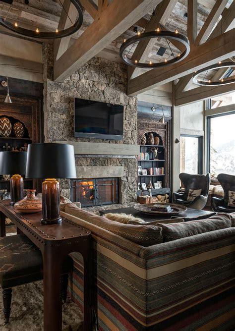 Log Cabin Style Meets Ethnic Modern Interior Design log cabin style meets ethnic and modern interior design