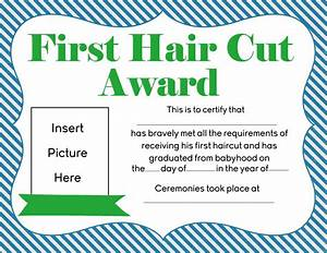 Free first hair cut award printables for Haircut templates