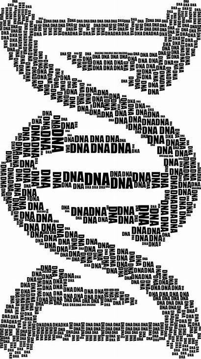 Dna Word Strand Cloud Typography Clipart Sign