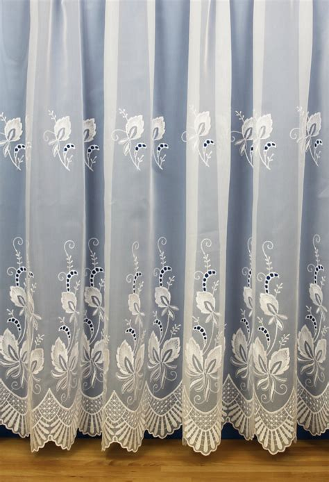 white embroidered curtains images