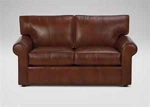 Ethan allen leather sofa infosofaco for Leather sectional sofa ethan allen