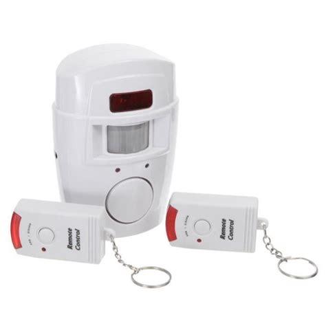 alarme sans fil detecteur de mouvement 2 telecommandes