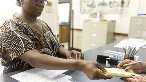 Barnes Green Post Office by County Staff Handles Absentee Votes Prepares For Nov 8