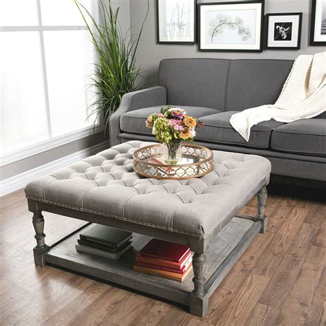 Using An Ottoman As A Coffee Table by Ottoman Coffee Table Ideas It S Time To Go Hybrid