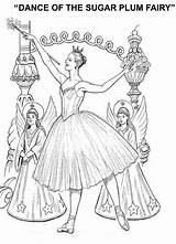Coloring Nutcracker Pages Dance Ballet Fairy Plum Christmas Sugar Printable Grade Sheets Dancing 1st Notes Ballerina Characters Worksheets Adult Books sketch template