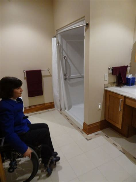 universal accessible guest bathroom design  visit