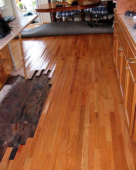 wood floor repair water damage home improvement