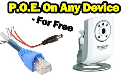 Diy Power Over Ethernet Non Poe Devices For Free