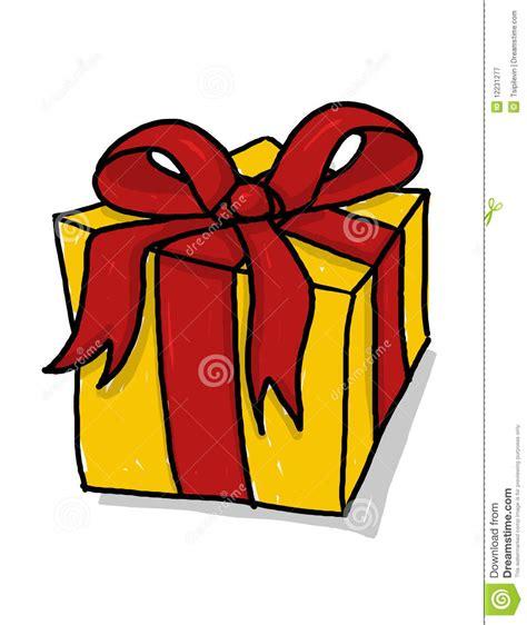 present illustration gift box  ribbon drawing royalty