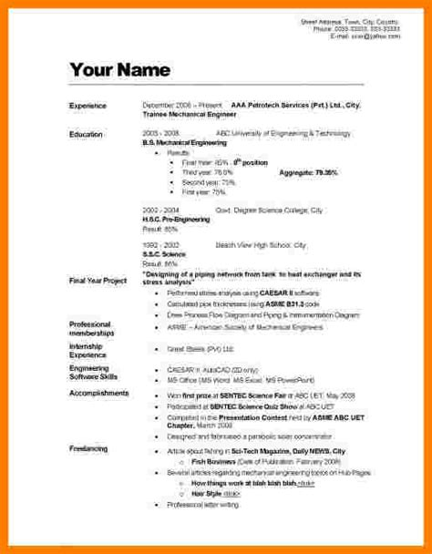 What Do You Write In A Resume Profile by 5 How To Write Cv Form Daily Task Tracker