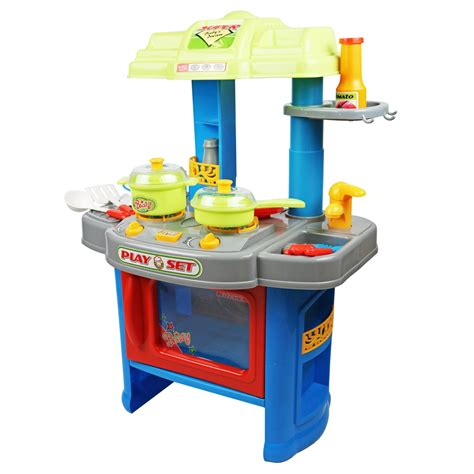 Kiddie Kitchen Play Set by Childrens Electronic Kitchen Cooking Playset