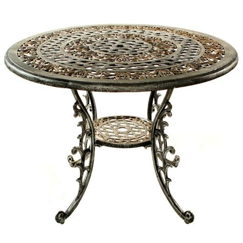 oakland living mississippi antique pewter patio dining