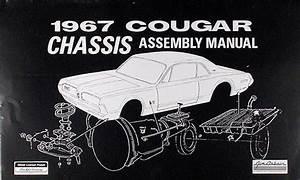 1967 Mercury Cougar Wiring Diagram Manual Reprint