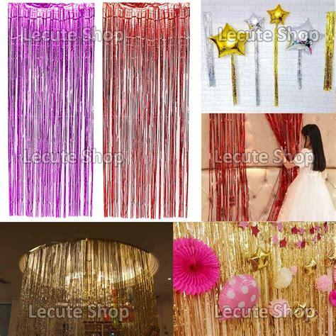 como hacer cortinas con papel silueta cortina papel metalico decoracion adorno lluvia