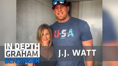 jj watt  meeting celeb crush jennifer aniston youtube