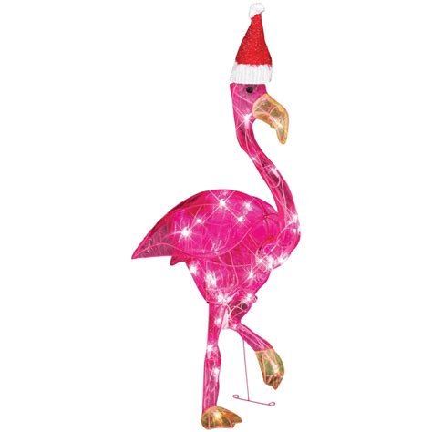 christmas flamingos yard stakes christmas wikii