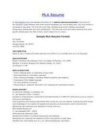 MLA Format Resume Template