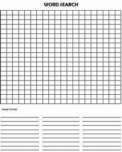 word search puzzle blank printables only free With name puzzle template