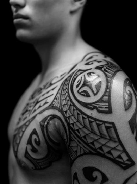New Tribal Tattoos On Chest Designs For Men - | TattooMagz
