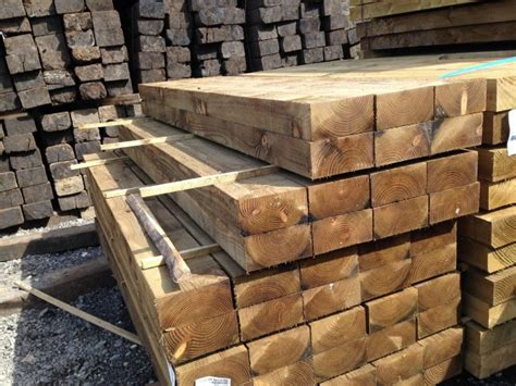 Pine Sleepers by Buy New Pine Sleepers 3000mm X 200mm X100mm Dorset