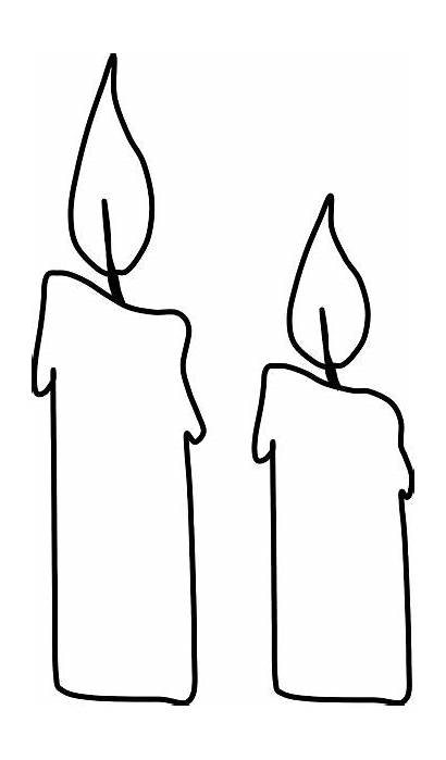 Coloring Pages Candles Clip Clipart Cliparts Candle