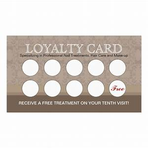 Nail salon loyalty cards business card templates for Loyalty business cards