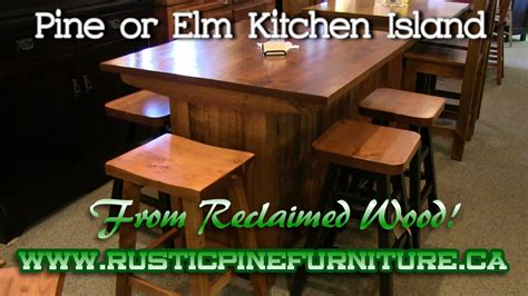Rustic Kitchen Island For Sale Ontario by Rustic Pine Kitchen Island From Reclaimed Pine Mennonite