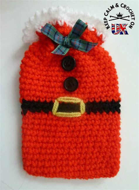 christmas gift bag santa crochet pattern by keep calm