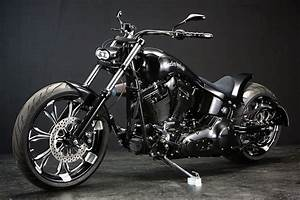 Racing Caf U00e8  Harley Twin Cam Softail  U0026quot Mother Lake U0026quot  By Bad Land
