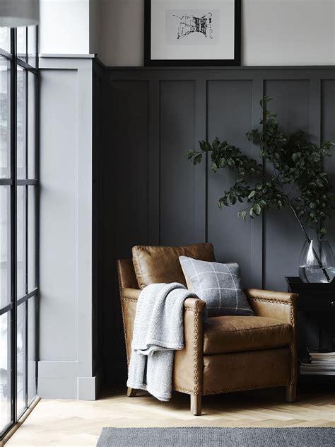 caspar leather armchair open dining room house interior