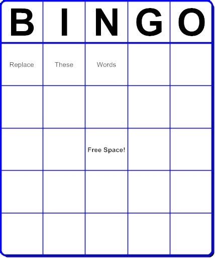 bingo cards vocabulary review bingo card