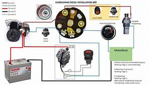 Wiring Diagram Diesel Engine Ignition Circuit  3 Cylinder