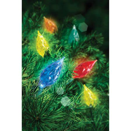 teardrop christmas lights time 60 count led c6 multi color teardrop lights multi color walmart