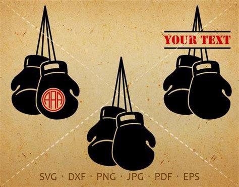 boxing glove svg pugilism monogram frame  circle font