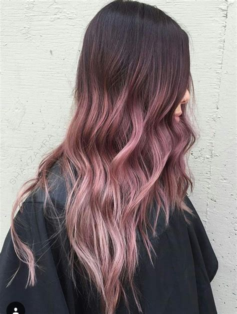 Beautiful Ombré Pinkish Rose Gold Hair Hair Dyed Hair