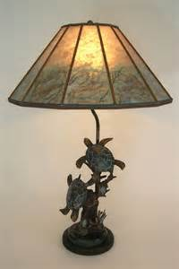 Sue Johnson Table Lamps by Bronze Turtle Sculpture Table Lamp Mica Lamp Shade With