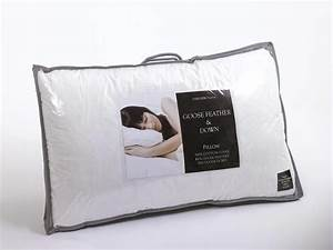 Pair of goose feather down pillows for Duck or goose feather pillows which is better