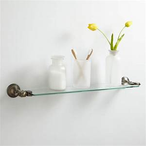 Vintage Tempered Glass Shelf - Bathroom