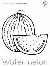 Coloring Watermelon Activities Activity sketch template