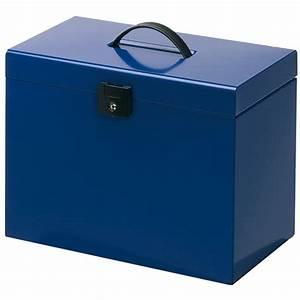 Boite Metal Rangement Papier Administratif : valise m tal bleue valise metal avec serrure fermeture ~ Premium-room.com Idées de Décoration