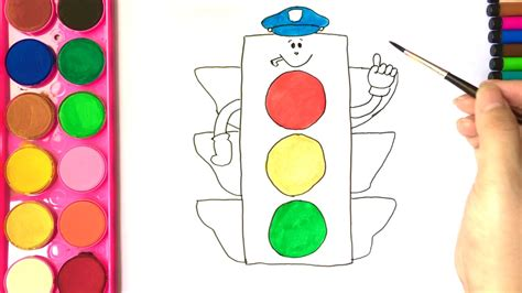 traffic light colors coloring pages for i draw traffic light i learn