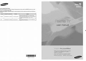 Samsung Plasma Television Manual L0803557