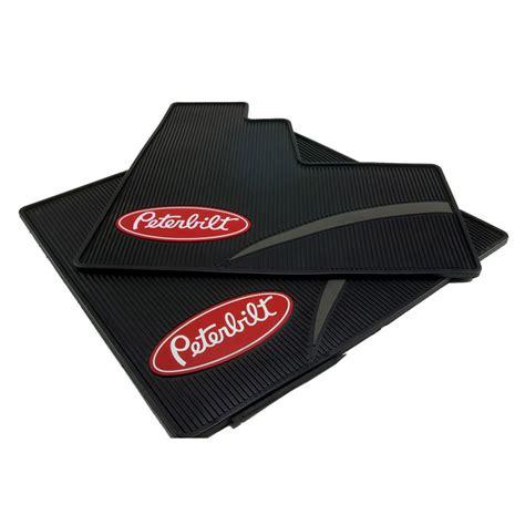 floor mats for trucks peterbilt motors daycab logo ribbed semi truck vinyl
