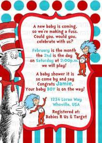 cat in the hat baby shower dr seuss cat in the hat baby shower invitation by