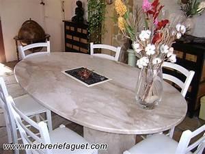 table en marbre sur mesure et bar en marbre 38 et 73 With table de salle a manger en marbre
