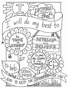 Daisy Girl Scout Law Coloring Pages 21318