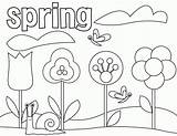 Coloring Spring Kindergarten Printable Clipart Library Preschool Clip Sheets sketch template